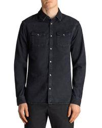 AllSaints - Beck Slim Fit Denim Sport Shirt - Lyst