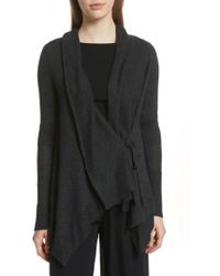 Vince - Drape Front Wool & Cashmere Cardigan - Lyst