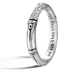 John Hardy - 'bamboo' Pave Diamond Ring - Lyst