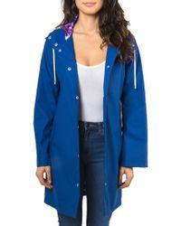 Badgley Mischka   Coated Raincoat   Lyst