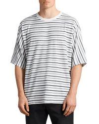 AllSaints - Jules Oversize Stripe T-shirt - Lyst