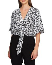 1.STATE - Romantic Meadow Tie Front Blouse - Lyst