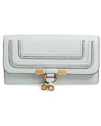Chloé - 'marcie - Long' Leather Flap Wallet - Lyst