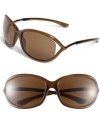 Tom Ford - Jennifer 61mm Polarized Open Temple Sunglasses - Dark Brown/ Polarized - Lyst