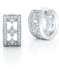 Kwiat - Jasmine Diamond Huggie Earrings - Lyst