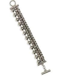 Alexander Wang - Ball & Chain Stacked Bracelet - Lyst