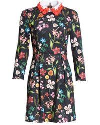 Ted Baker   Hampton Embellished Collar Floral Dress   Lyst