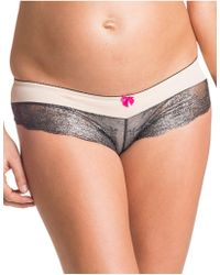 YOU LINGERIE - You! Lingerie Elise Lace Maternity Hipster - Lyst