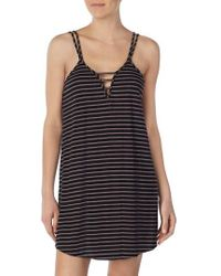 Room Service - Stripe Chemise - Lyst
