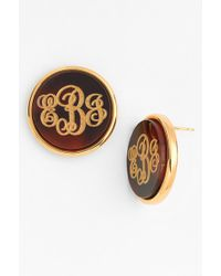 Moon & Lola - 'vineyard' Personalized Monogram Stud Earrings - Lyst