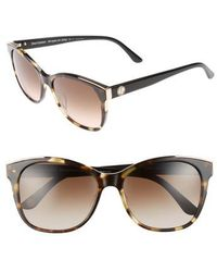 Juicy Couture | Black Label 56mm Cat Eye Sunglasses - Khaki Havanna Black | Lyst