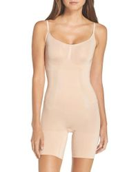 Spanx - Spanx Oncore Mid Thigh Bodysuit - Lyst