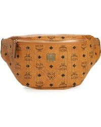 MCM - Stark Studded Print Belt Bag - Lyst