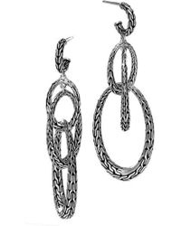 John Hardy - Classic Chain Drop Earrings - Lyst