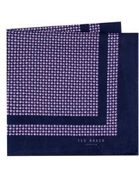 Ted Baker - Micro Dot Silk Pocket Square - Lyst