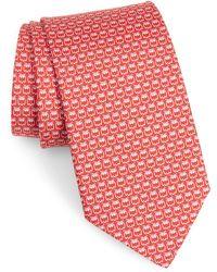 Ferragamo - Owl Print Silk Tie - Lyst