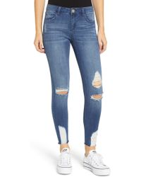Tinsel - Ripped Crop Skinny Jeans - Lyst