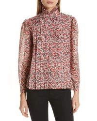 Robert Rodriguez - Cayana Pleated Floral Blouse - Lyst
