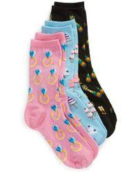Hot Sox - 3-pack Bridal Socks, Pink - Lyst