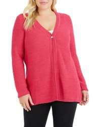 Foxcroft - Marcelle Texture Stitch Cardigan - Lyst