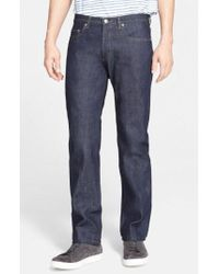 A.P.C. - New Standard Slim Straight Leg Raw Selvedge Jeans - Lyst