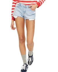 TOPSHOP | Cory Light Denim Shorts | Lyst