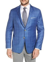 Hickey Freeman - Global Guardian Classic B Fit Windowpane Wool Sport Coat - Lyst