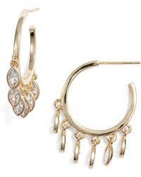Melinda Maria - Marquise Hoop Earrings - Lyst