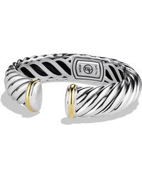 David Yurman - 'waverly' Bracelet With Gold - Lyst