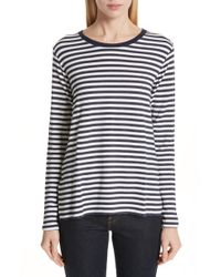 Majestic Filatures - Stripe French Terry Top - Lyst