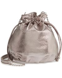 Chelsea28 - Phoebe Mini Metallic Bucket Bag - - Lyst
