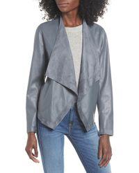 BB Dakota - Teagan Reversible Faux Leather Drape Front Jacket - Lyst