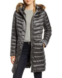 Barbour - Berneray Faux Fur Trim Quilted Jacket - Lyst