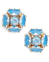 Kate Spade - Flying Colors Marquise Cluster Earrings - Lyst