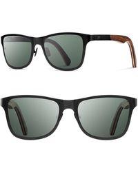 Shwood - 'canby' 54mm Polarized Titanium & Wood Sunglasses - Lyst