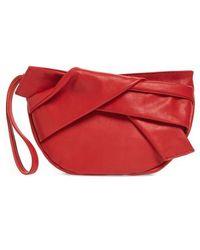 TOPSHOP - Jasmine Leather Clutch - Lyst