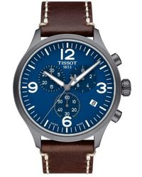 Tissot - Chrono Xl Leather Strap Chronograph Watch - Lyst