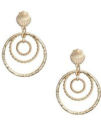Lilly Pulitzer - Lilly Pulitzer Celestial Seas Hoop Earrings - Lyst