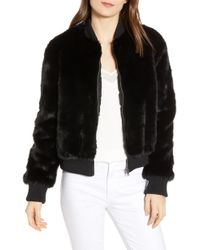 Cupcakes And Cashmere - Amy Faux Fur Bomber Jacket - Lyst