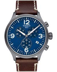 Tissot - Chrono Xl Leather Strap Chronograph Watch - Lyst
