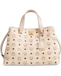 MCM - Large Visetos Coated Canvas Tote - - Lyst