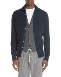 Eleventy - Cashmere Overshirt - Lyst