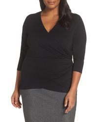 Vince Camuto - Wrap Front Top - Lyst