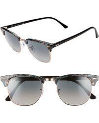 02de1191d16eb Ray-Ban - Clubmaster 51mm Gradient Sunglasses - Lyst