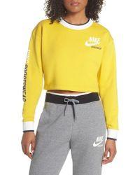 Nike - Reversible Crop Sweatshirt - Lyst