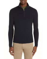 Norse Projects - Fjord Quarter Zip Wool & Cotton Sweater - Lyst