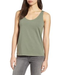 Eileen Fisher - Organic Cotton Stretch Jersey Tank - Lyst