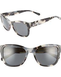 df9057278b0c Lyst - COACH 56mm Cat Eye Sunglasses in Black