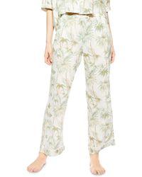 TOPSHOP Tropical Print Pyjama Pants