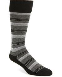 Nordstrom - Blocked Fine Stripe Socks - Lyst